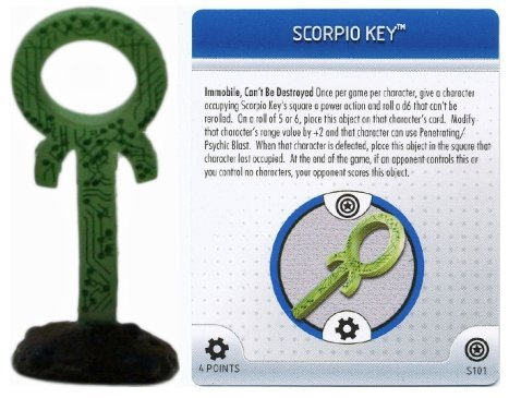 HeroClix: Scorpio Key and Fete Card # S101 (Limited Edition) - Captain America