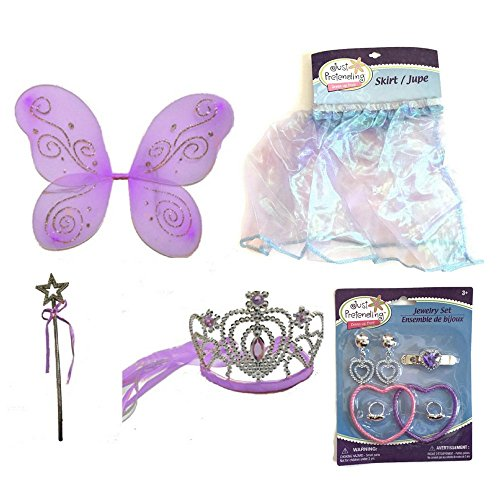 Lavender Fairy Princess Costume Set-5 Piece (Princess Peach Costume Toddler)