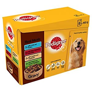 Pedigree Pouch Gravy Selection for Small Dogs 8 x 150 g (Pack of 4)