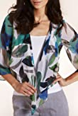 Per Una Open Front Abstract Print Wrap Shirt with Camisole [T62-4791I-S]