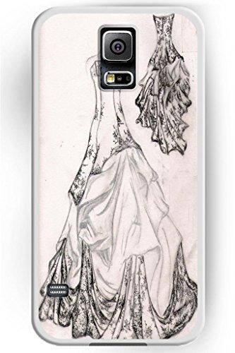 Sprawl Beautiful Romantic Design Hard Plastic Cover Marriage Samsung Galaxy S5 Case -- Black White Wedding Dress