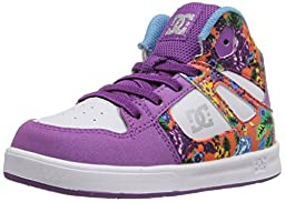 DC Rebound SE UL High Top Skate Shoe (Toddler), Purple Rain, 5 M US Toddler