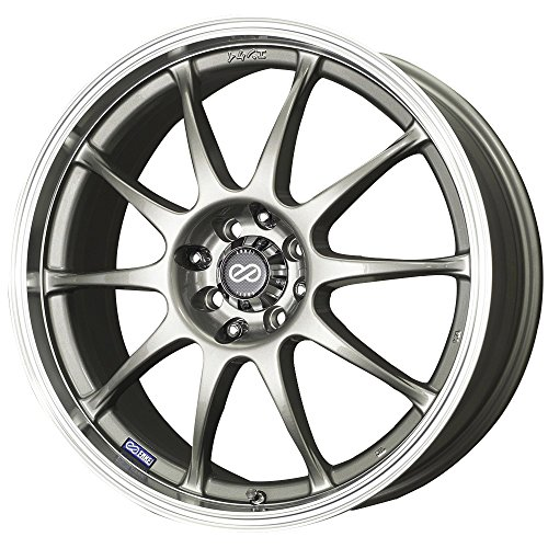 17x7 Enkei J10 (Silver w/ Machined Lip) Wheels/Rims 5x100/114.3 (409-770-12SP) (Daytona Rims 5x5 compare prices)
