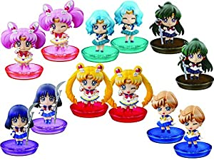 Sailor Moon Petit Chara! Series Sailor Moon New friends and Make-up! PVC Figura (1 Random Blind Box)