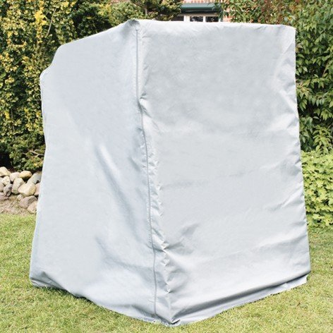 Schutzhülle Strandkorbhülle Atmungsaktiv, Weiß, 128x105x140/165 cm