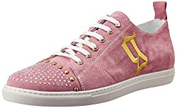 Galliano Womens Pink White Suede Sneakers - 4 UK
