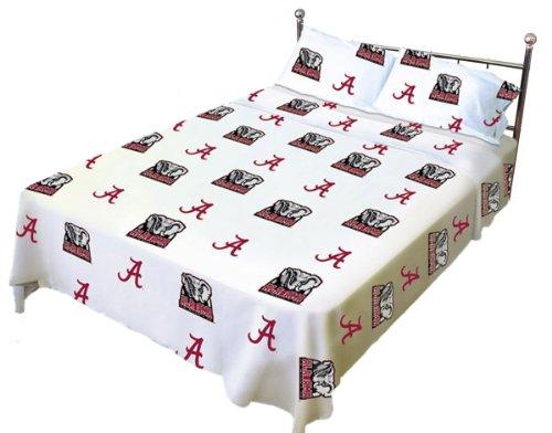 Alabama Printed Sheet Set Full - White
