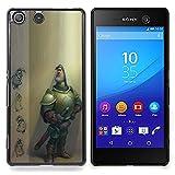 For Sony Xperia M5 E5603 E5606 E5653 Case , Ritter Character Computer Graphics Cgi - Muster Design Hart Kunststoff Rückseite Handy Tasche Schale Etui Hülle Schutzhüllen