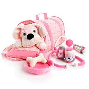 Amazon.com: FAO Schwarz Penelope the Pup Vet Kit - Pink: Toys & Games