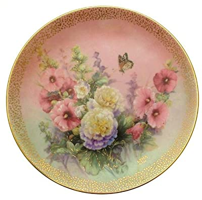 c1992 Lena Liu Hollyhock March Symphony of Shimmering Beauty plate CP1562
