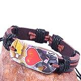 Modern Fantasy Heart to Heart Lover Pattern Leather Bracelet