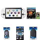 Amazon.co.jpPlayStation Vita Wi-Fiモデル グレイシャー・ホワイト(PCH-2000ZA22) + 【Amazon.co.jp限定】マインクラフトステッカーパック付 Minecraft: PlayStation Vita Edition + PlayStation Vita用アクセサリ4種 セット