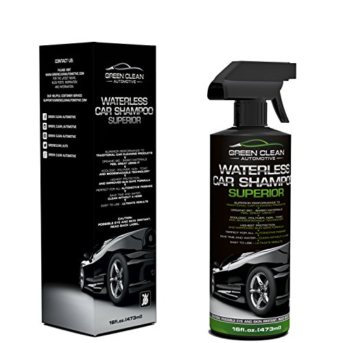 Green Clean Automotive Waterless Car Shampoo Superior - Best Ecological Car Care Product - Spot-Free - Wash Without Hose & Water - Spray On Wipe Off - Ultimate Shine & Protection - Ready To Use 16 oz (Automotive Care compare prices)