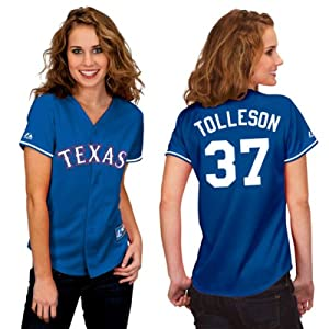 Shawn Tolleson Texas Rangers Alternate Royal Ladies Replica Jersey by Majestic by Majestic