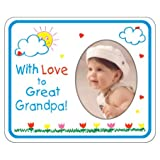 With Love to Great Grandpa crayola Photo Magnet Frame