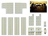 トヨタ 50系 エスティマ / エスティマ ハイブリッド 3000K 電球色 LED ルームランプ 12点セット ACR50/55 GSR50/55 AHR20
