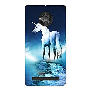 Impressive Unicorn Horse Print Back Case Cover for Yu Yuphoria