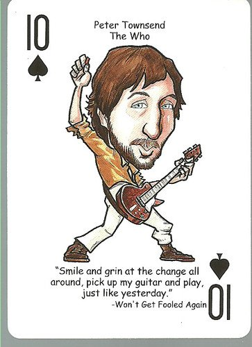 (3) Pete Townsend The Who - ODDBALL Playing cards