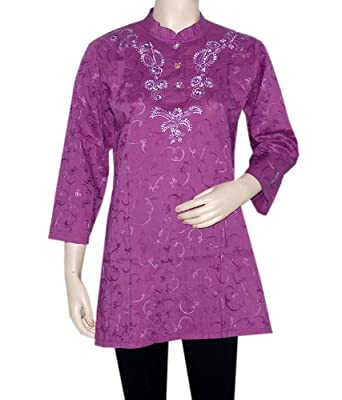 Designer Party Wear Kurta Top Tunic Embroidery Work Kurta Size Xxl