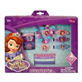 Disney Princess Sofia the First Girls 18 Piece Jewelry and Hair Accessory Box Gift Set