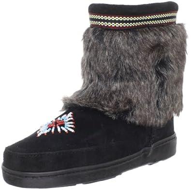 (新品)迷你唐卡3779翻毛女士踝靴Minnetonka Women's 3779 Ankle Boot $85.95