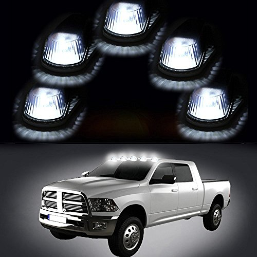 Carrep 5x Smoked Cab Roof Top Marker Running Lamps Clearance Light Lamp for 1980-1997 Ford (5pcs Smoked Cab) (5pcs cab marker) (Cab Top Light Mount compare prices)
