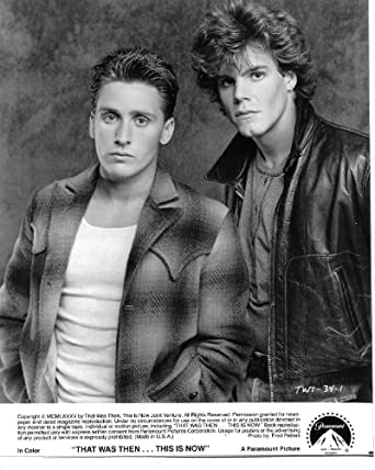 Emilio Estevez Craig Sheffer That Was Then This is Now ...