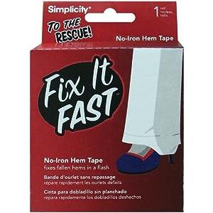 Wrights 881917 Fix It Fast No Iron Hem Tape, 5-Yard