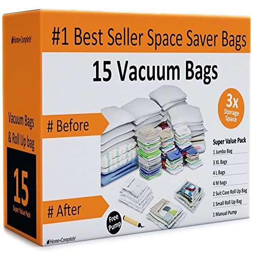 Home-Complete Space Saver Bags Storage Bundle (15 Items) (Vacuum Bags Space Saver compare prices)