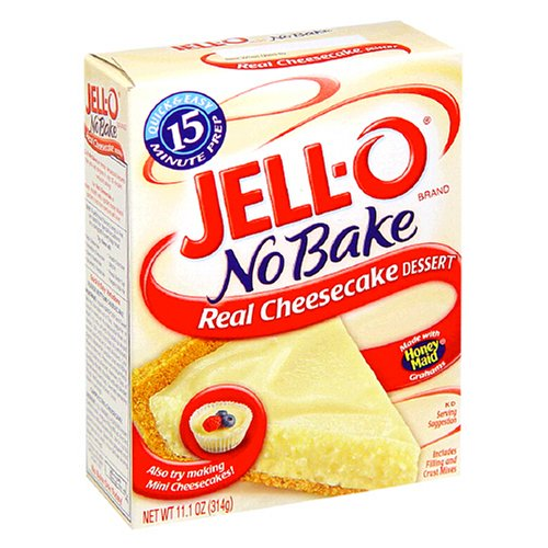 Buy Jell-O No-Bake Real Cheesecake Dessert, 11.1-Ounce Boxes (Pack of 12) (JELL-O, Health & Personal Care, Products, Food & Snacks, Baking Supplies, Baking Mixes, Cake Mixes)