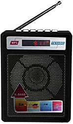 HBNS Digital FM Radio AUX USB SD Card MP3 Player LED Display (Color may vary)