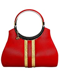 Click PU Single Strap Sling & Cross-Body Bag (JA63, Red)