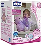 Chicco - Proyector Baby Bear, peluche extrasuave con efectos de luz y melod�as, color rosa