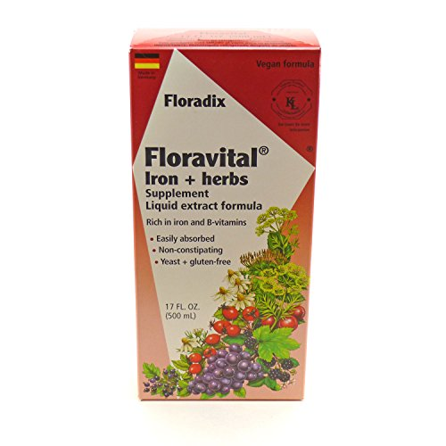 Floradix Floravital Iron & Herb Yeast Free - 17 oz (Floradix Iron 17 compare prices)
