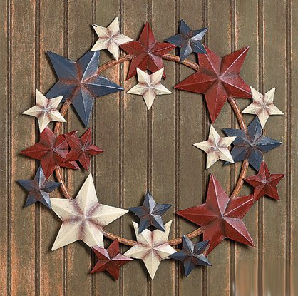 Americana Star Wreath - Wreaths and Floral