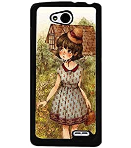 Printvisa Girl Next To A Country House Back Case Cover for LG L90 Dual D410::LG L90 D405