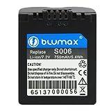 Blumax 7.2 V/750 mAh Li-Ion Battery for Panasonic CGR-S006/CGA-S006/DMW-BMA7/S006E
