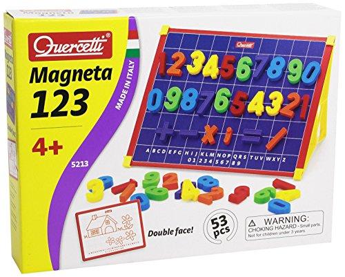 Quercetti 13/5213 - Caballete magnético, los números (53 piezas)