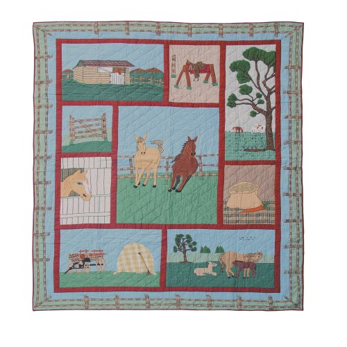 Twin Horse Comforter front-585361