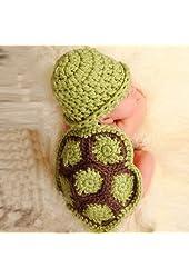 Mokingtop®Baby Newborn Turtle Knit Crochet Beanie Hat Outfit