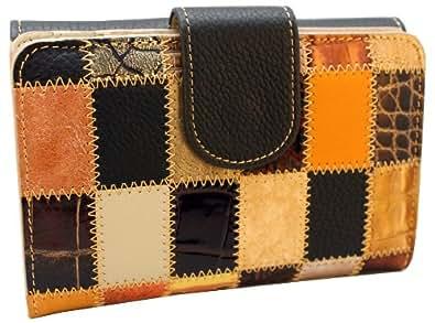 Fabriqué en Espagne - Portefeuille / porte-monnaie de luxe pour femme main par des artisans utilisant 100% cuir véritable - Couleurs disponibles