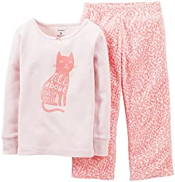 Carter\'s Baby Girls\' 2 Piece Pant PJ Set (Baby) - Cat - 24 Months