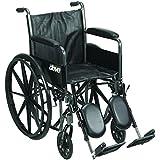 Drive Medical SSP218DFA-ELR Silver Sport 2 Wheelchair
