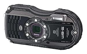 Pentax Optio WG-3 black 16MP Waterproof Digital Camera with 3-Inch LCD Screen (Black)