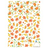 Easy Instant Home Decor Wall Sticker Decal - Orange Flower Archby KR International