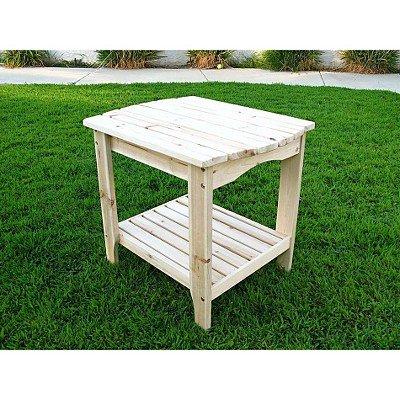 Adirondack Cedar Rectangular Side Table