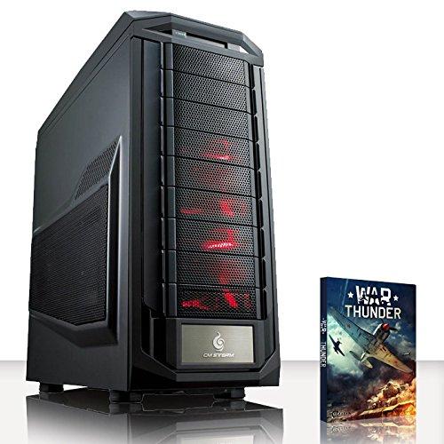 VIBOX Infinity -Turbo 5 - Extreme, Gamer, Gaming PC, Desktop PC, Computer mit WarThunder Spiel Bundle PLUS eine lebenslange Garantie inbegriffen* (Neu 4.4GHz Overclocked Intel, I5 4690K Schnell Quad-Core, Haswell, Prozessor, 2 GB Overclocked AMD Radeon R9270X Grafikkarte, 120GB SSD Solid-State-Laufwerk, Große 2TB Festplatte, Corsair CX750M PSU, Corsair H75 Wasser CPU Kühler, Z87 SKT1150 Motherboard, Blu -Ray ROM, 32 GB 1600MHz RAM, Kein Betriebssystem)