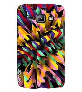 Omnam Colorful Bar Pattern Printed Designer Back Cover Case For Samsung Galaxy J1