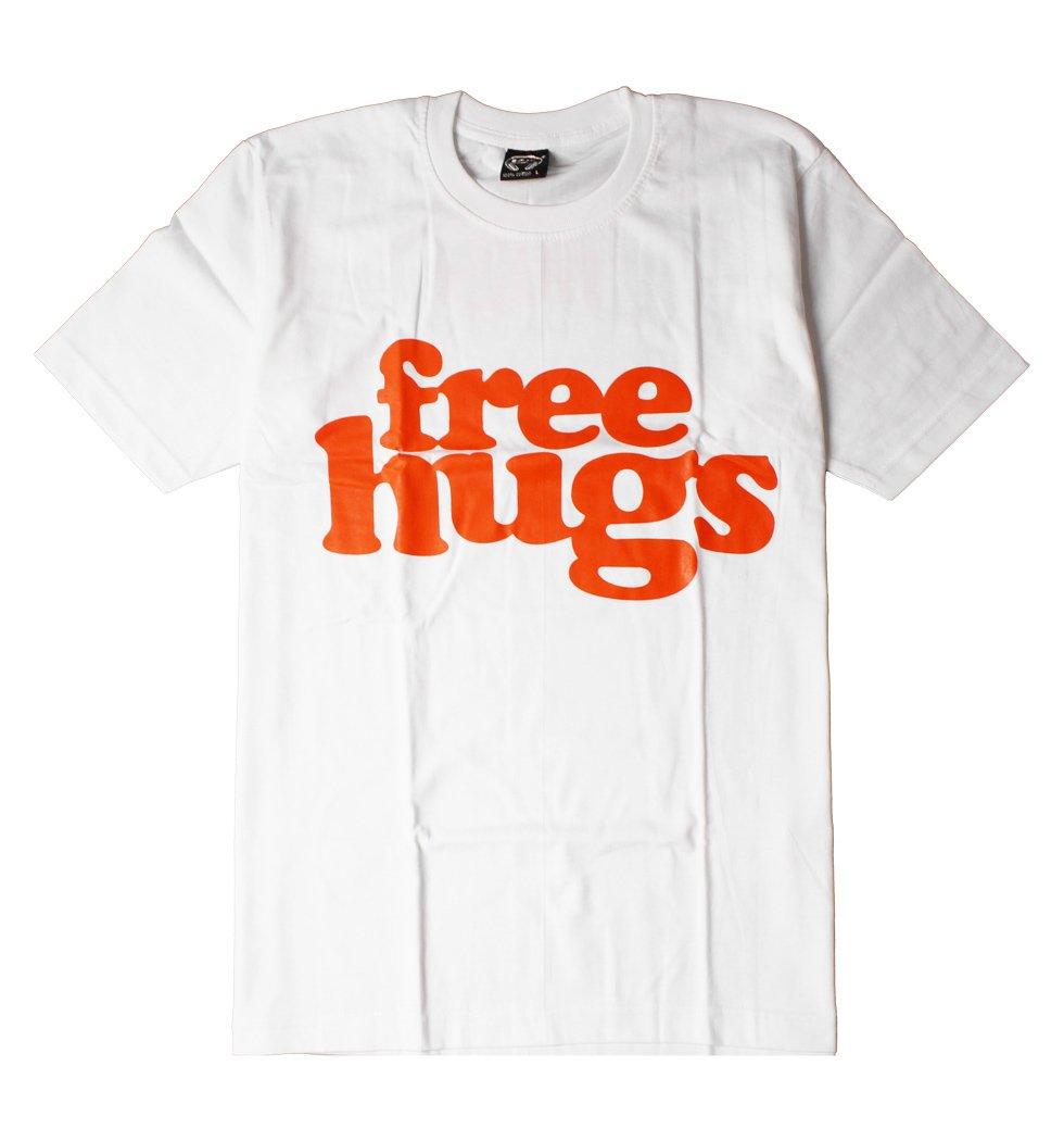 デザイン おもしろ Tシャツ free hug フリーハグ メンズ レディース カットソー