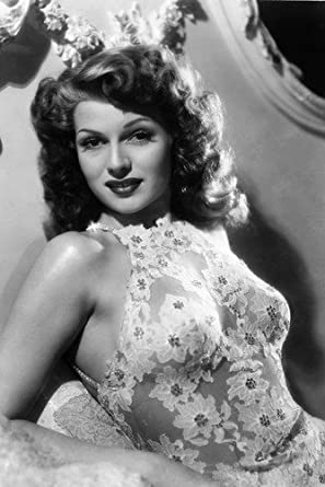 Rita Hayworth Stunning Clinging Dress Busty Glamour Pose 24x36 Poster